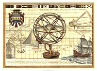 """Nautical Map I by Vision Studio - 30"""" x 22"""""""