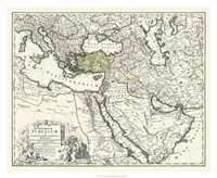 "Map of Europe, Asia and Africa by John James Audubon - 32"" x 26"""