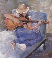 Tessa's Guitar Fine Art Print