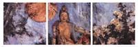 "Guanyin Triptypch by Jill Barton - 39"" x 14"""
