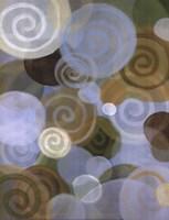 """19"""" x 25"""" Abstract Spirals"""