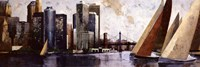 "Arriving at Manhattan by Marti Bofarull - 36"" x 12"""