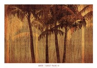 Sunset Palms III Fine Art Print