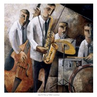 Jazz En Vivo Fine Art Print