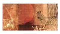 Safari Sunset I Framed Print