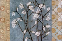 "Patterned Magnolia Branch by Kathrine Lovell - 36"" x 24"""