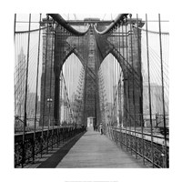 The Brooklyn Bridge, Sunday AM Fine Art Print