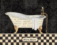 French Bathtub I Framed Print