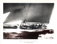 "Rainbow's Run 1934 Vintage Maritime by Mariner's Collection - 28"" x 22"""