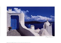 White with Blue Dome Fine Art Print
