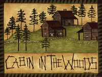 Cabin in the Woods Framed Print