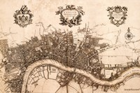 Plan of the City of London, 1720 Fine Art Print
