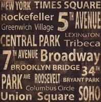 """NY by Luke Wilson - 20"""" x 20"""""""