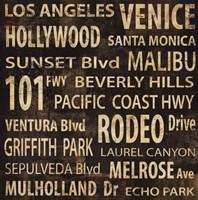 """L.A. by Luke Wilson - 36"""" x 36"""""""