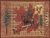 Deer Leaf Framed Print