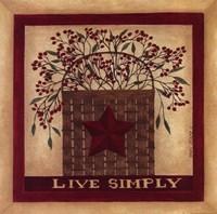"Live Simply by Cindy Shamp - 12"" x 12"""