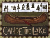 Canoe On The Lake Fine Art Print
