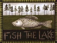 Fish The Lake Fine Art Print