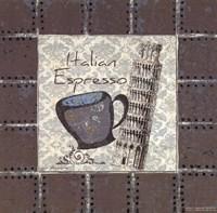 """Italian Espresso by Jo Moulton - 8"""" x 8"""", FulcrumGallery.com brand"""