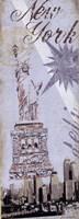 """New York by Jo Moulton - 6"""" x 17"""""""