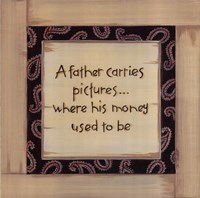 A Father Carries Fine Art Print