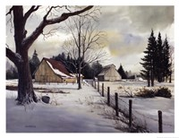 Snow Fields - Winter Barn Fine Art Print