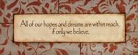 "Hopes And Dreams by Stephanie Marrott - 20"" x 8"""