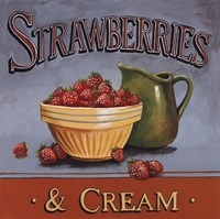 Strawberries & Cream - mini Fine Art Print