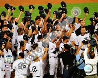 The New York Yankees Salute the Crowd after the Final Game at Yankee Stadium 2008 Fine Art Print