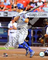 Ian Kinsler 2008 Batting Action Fine Art Print