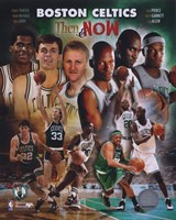 2008 Boston Celtics Then & Now Composite Fine Art Print