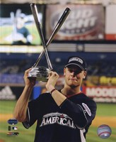 Justin Morneau with the 2008 MLB Home Run Derby Trophy Fine Art Print