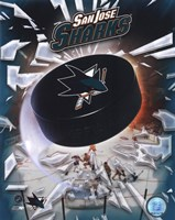 2008 San Jose Sharks Team Logo Framed Print