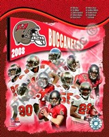 "2008 Tampa Bay Buccaneers Team Composite by John James Audubon, 2008 - 8"" x 10"""
