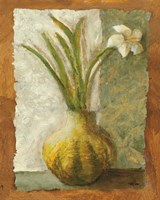 Narcissus in Green Vase Fine Art Print