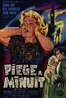 """Midnight Lace Piege A Minuit French Film - 11"""" x 17"""""""