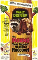 """The Hound That Thought He Was a Racoon - 11"""" x 17"""", FulcrumGallery.com brand"""