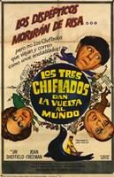 """Three Stooges Go Around the World in a Daze - 11"""" x 17"""""""