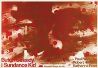 "Butch Cassidy and the Sundance Kid Blood Splatter - 17"" x 11"""