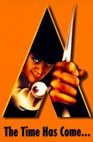 "A Clockwork Orange Bright Orange Background - 11"" x 17"""