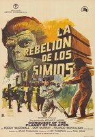 "Conquest of the Planet of the Apes Spanish - 11"" x 17"""