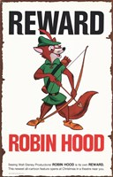"Robin Hood Reward for Fox - 11"" x 17"", FulcrumGallery.com brand"