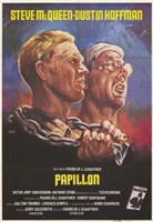 """Papillon Steve McQueen Dustin Hoffman - 11"""" x 17"""""""