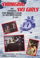 """Swinging Ski Girls - 11"""" x 17"""""""