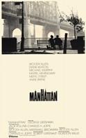 "Manhattan - black and white (couple sitting) - 11"" x 17"""