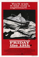 Friday the 13th Black & Red Fine Art Print