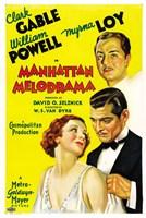 "Manhattan Melodrama Gable Powell Loy - 11"" x 17"""