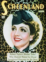 "Claudette Colbert Screenland - 11"" x 17"""