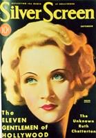 Marlene Dietrich - Silver Screen Fine Art Print