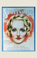 Marlene Dietrich - woman's face Fine Art Print